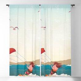 Kite surfer Woman Theme Blackout Curtain