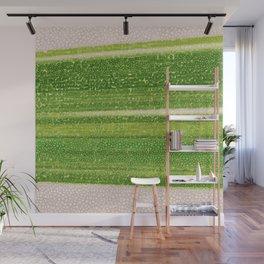 Leafs Stripes. green, white, stripes, nature, macro, leaf, leaves, decor, art, Society6. Wall Mural