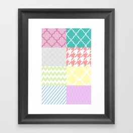 Multi Patterned Framed Art Print