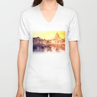 rome V-neck T-shirts featuring Rome by takmaj