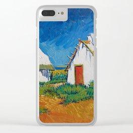 Vincent van Gogh - White cottages at Saintes-Maries (1888) Clear iPhone Case