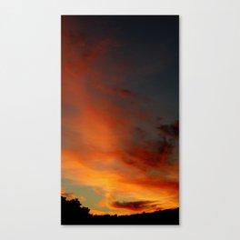 Sky on Fire 2010 Canvas Print