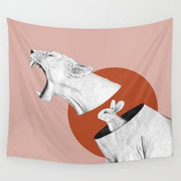 Lioness Bunny Wall Tapestry