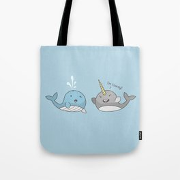 Horny Narwhal Tote Bag