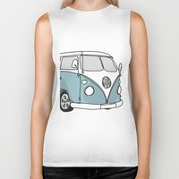 vw Biker Tanks featuring VW Camper by 1and9
