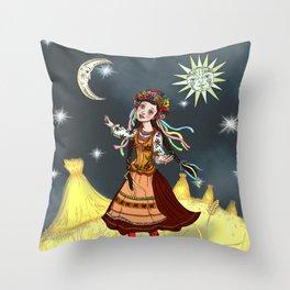 Slavic Rhapsody Throw Pillow