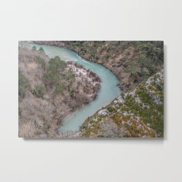Blue French river Metal Print