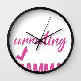 Sarcastic silently Correcting you Wall Clock