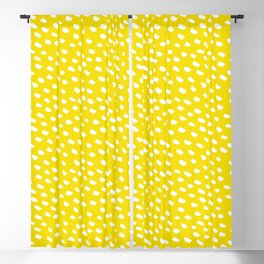 Brush Dot Pattern Yellow Blackout Curtain
