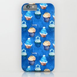 Bubbie's Yummy Hanukkah Sweet Treats and Goodies Pattern iPhone Case