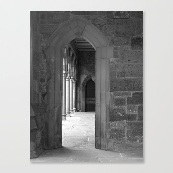 Cloister View Canvas Print