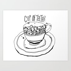 Cup of Teeth Art Print