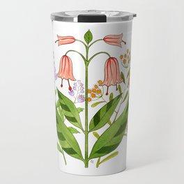 Folk Art Flowers Travel Mug