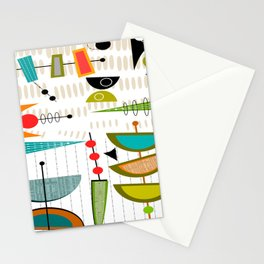 Mid-Century Modern Abstract Atomic Art Stationery Cards