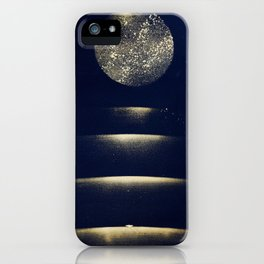 Staircase to the Moon (Gold) iPhone Case