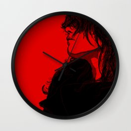Smoking (Black on Red Variant) Wall Clock