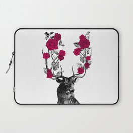The Stag and Roses   Red Laptop Sleeve