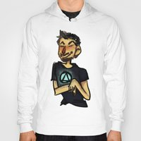 tony stark Hoodies featuring Tony Stark by Brizy Eckert