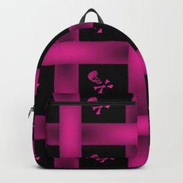 Pink Skull Pattern Backpack