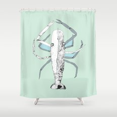 Lazy Lobster Shower Curtain