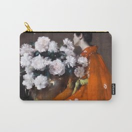 The Spring Flower by William Merritt Chase - Vintage Victorian Retro Fine Art Oil Painting Carry-All Pouch