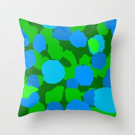 June mosaic Throw Pillow