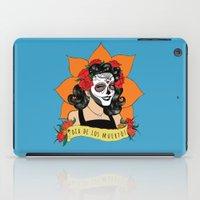 dia de los muertos iPad Cases featuring Dia de los Muertos by Karen Vaughan