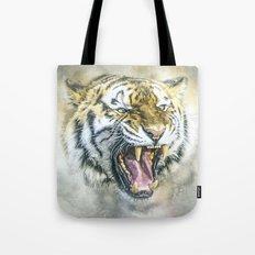 Snarling Tiger Tote Bag