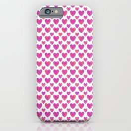 Lovely Pink Hearts - Valentines Day iPhone Case