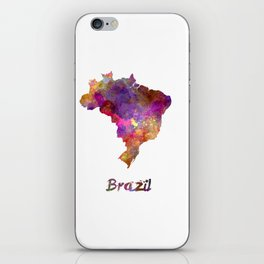 Brazil in watercolor iPhone Skin