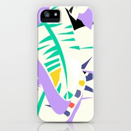 Memphis banana leaves iPhone Case