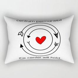 Centrum permanebit | The center will hold Rectangular Pillow
