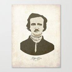 Edgar A. Poe Canvas Print