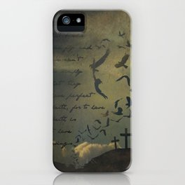 Faith is to Have Wings  iPhone Case