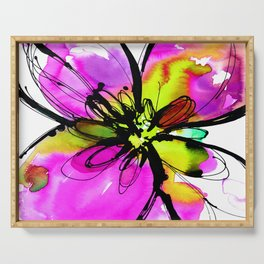 Ecstasy Bloom No.17e by Kathy Morton Stanion Serving Tray