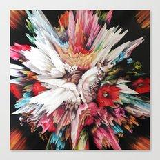 Floral Glitch II Canvas Print