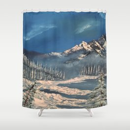 Ice Fields - winter day Shower Curtain
