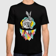 Space Rabbit SMALL Black Mens Fitted Tee