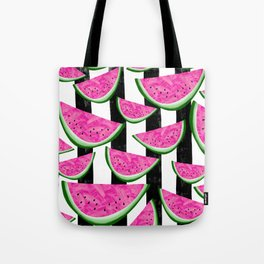 Stripey Watermelon Crush Tote Bag