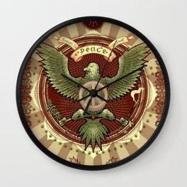 Peace We Trust Wall Clock