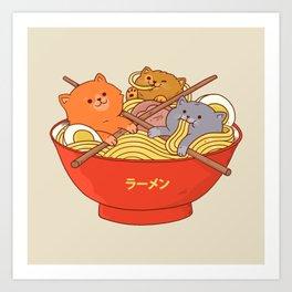 Ramen cats Art Print