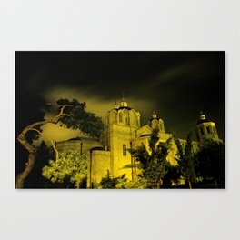 Winter storm over The Church of the Holy Trinity Canvas Print