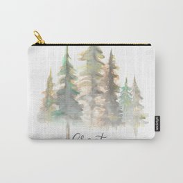 Great Smoky Mountains Tennessee Watercolor Carry-All Pouch