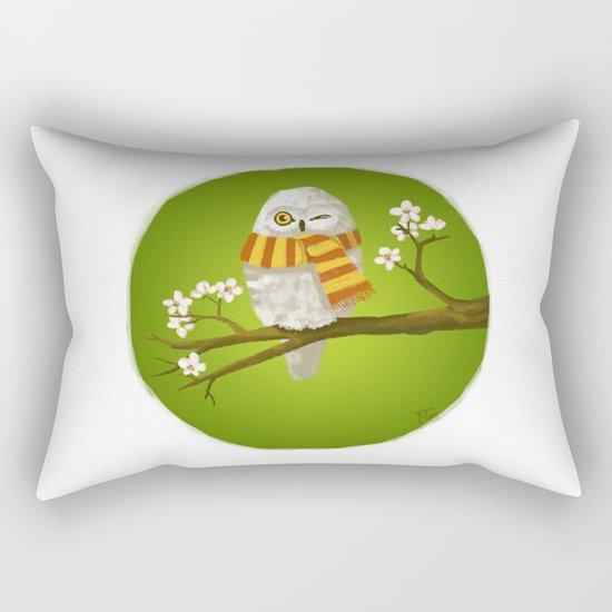 Spring Owl Rectangular Pillow