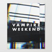 vampire weekend Canvas Prints featuring Vampire Weekend 3 by alboradas