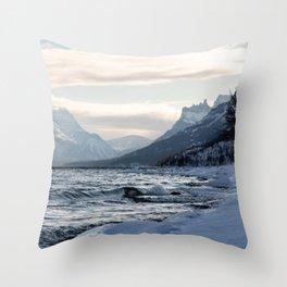 Frigid Waves Throw Pillow
