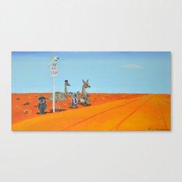 Aussie Outback Bus Stop Canvas Print