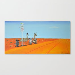 Aussie Outback Bus Stop Canvas Print