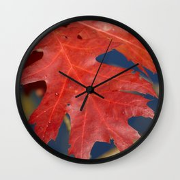 Red Oak Wall Clock