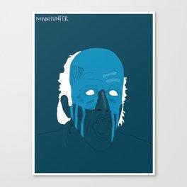 Manhunter psycho Blue Canvas Print